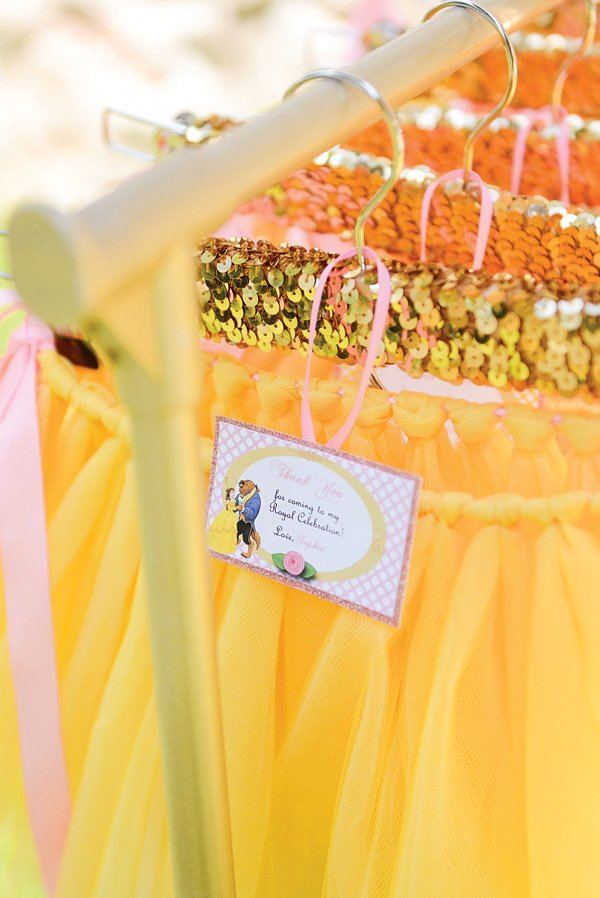 beauty and the beast birthday party belle tutu favors