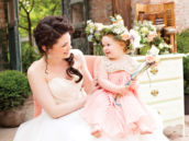 the bride and the flower girl photo shoot