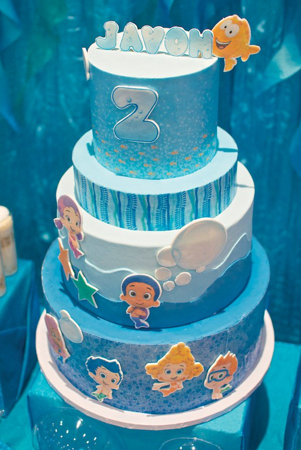 under the sea bubble guppies birthday cake