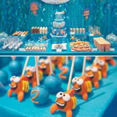 bubble guppies birthday party dessert table
