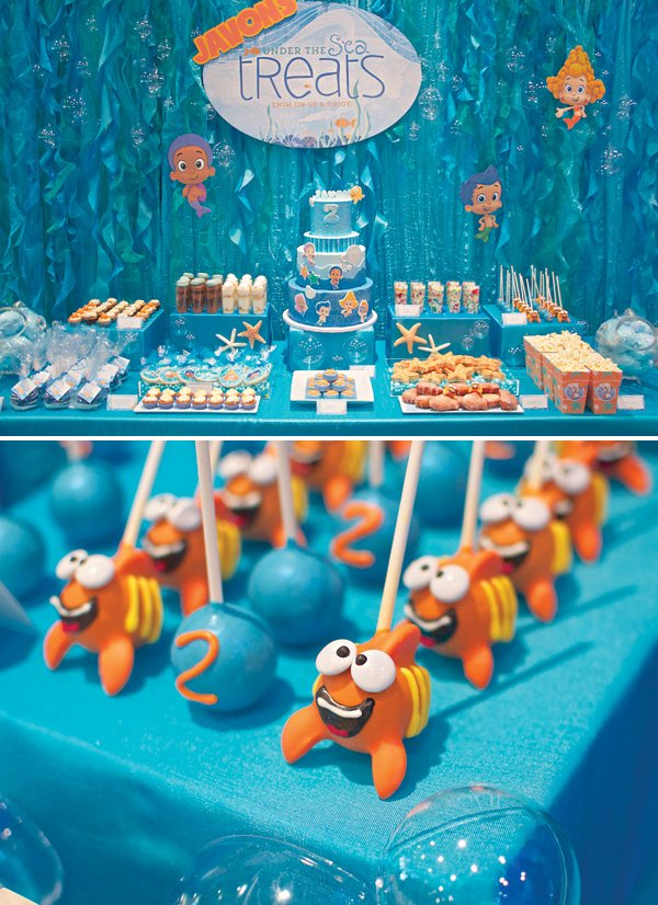 Under the sea bubble guppies birthday party hostess with the mostess - Bubble guppie birthday ideas ...