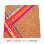 DIY Washi Tape Cork Tile Placemat