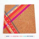 DIY Washi Tape Cork Tile Placemat