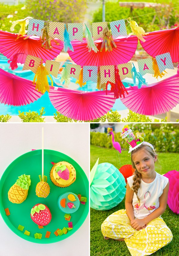 colorful summer birthday party ideas