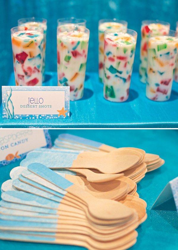 confetti jello dessert shots