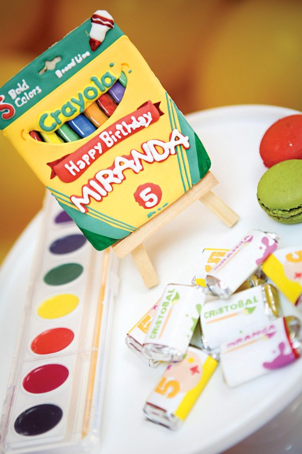 crayola themed birthday party ideas