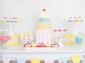 cute as a cupcake party dessert table