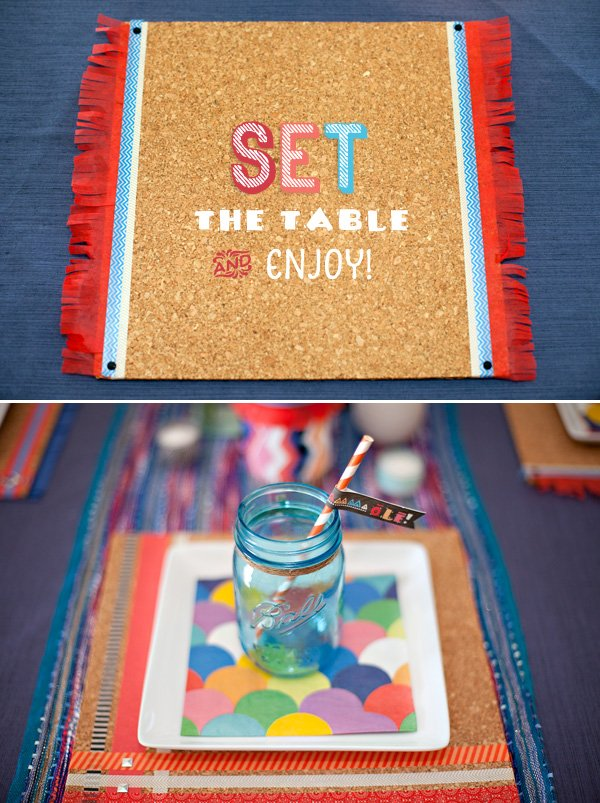 DIY Fiesta Party Placemats