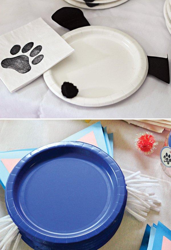 DIY dog and cat plates