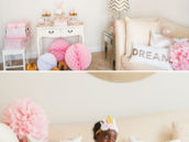 dreamy pink and gold birthday party