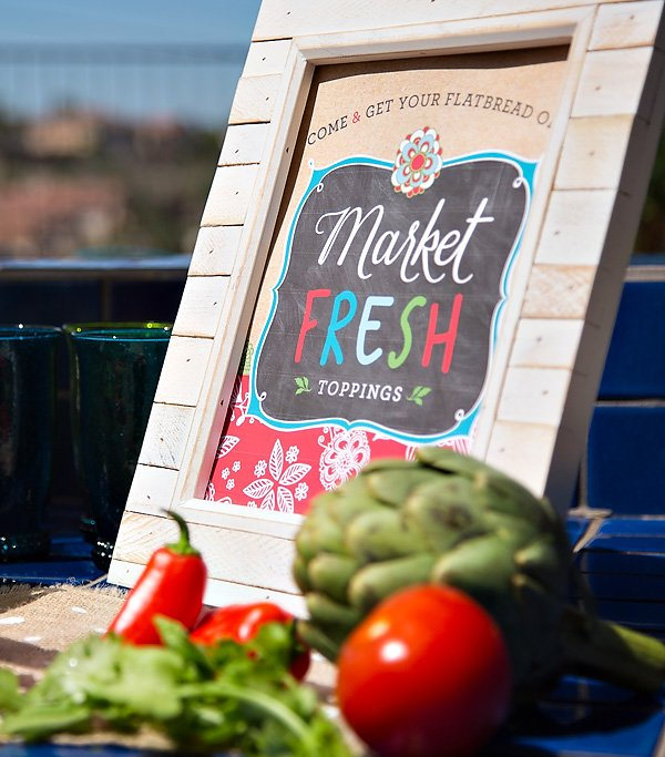 farmers market themed free printable sign