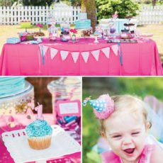 flamingo first birthday party