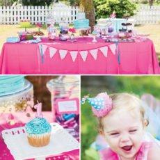 flamingo first birthday party