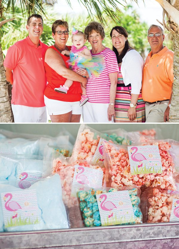 flamingo popcorn party favors