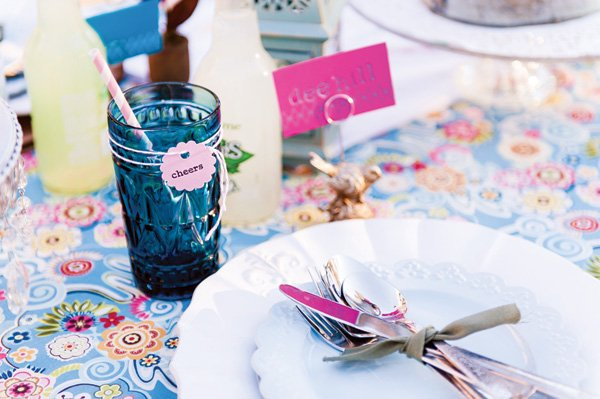floral wedding tablescape details