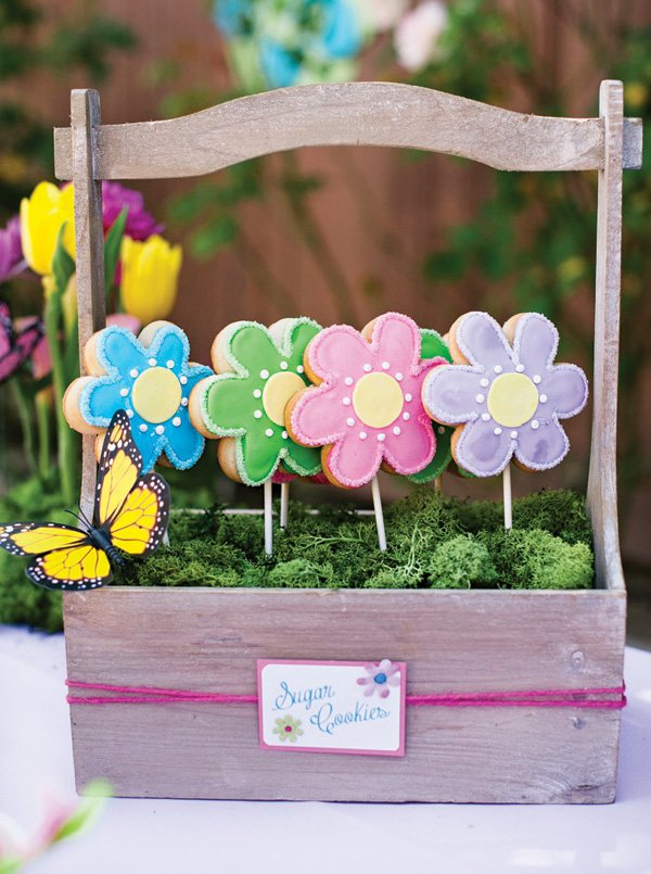 flower cookie bags