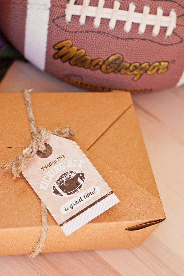 football party printable favor tags