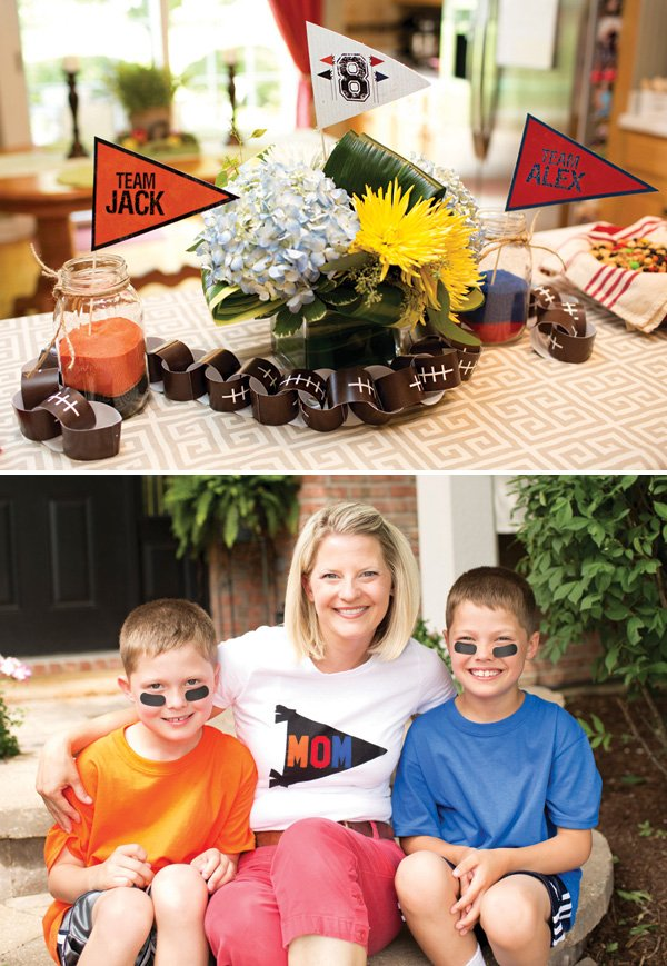 football birthday party centerpieces and decor ideas