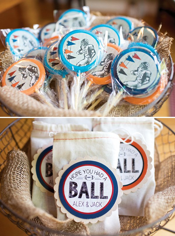 football birthday party favors