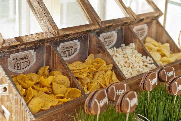 football party snack buffet
