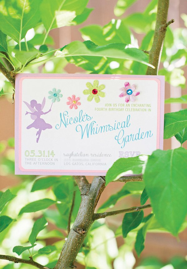 whimsical fairy garden party invitation