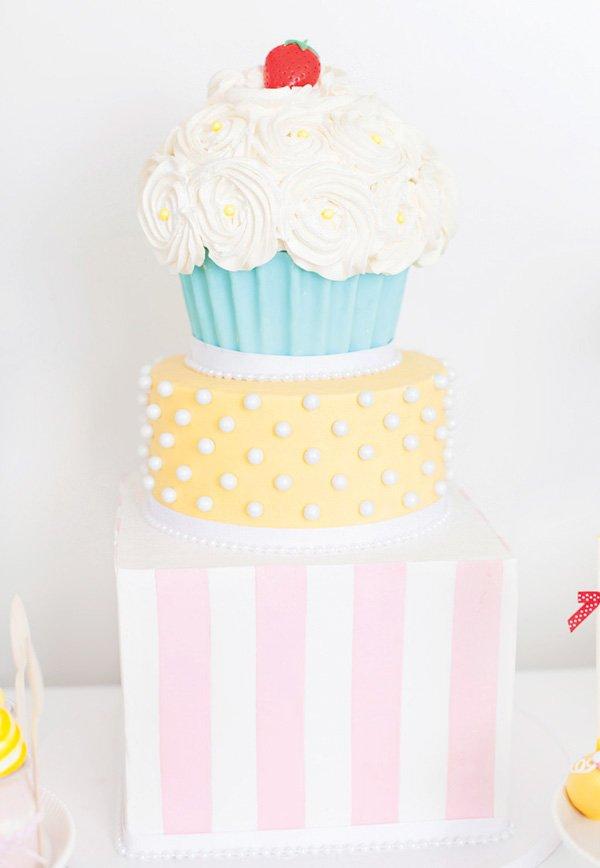 giant cupcake birthday cake