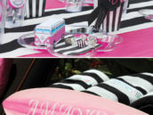 girly surfer's birthday party tablescape