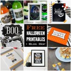 halloween free printables blog hop