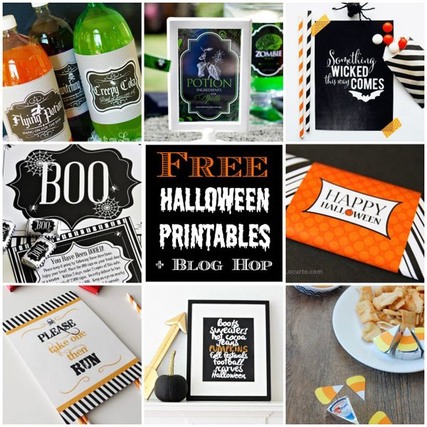 halloween free printables blog hop