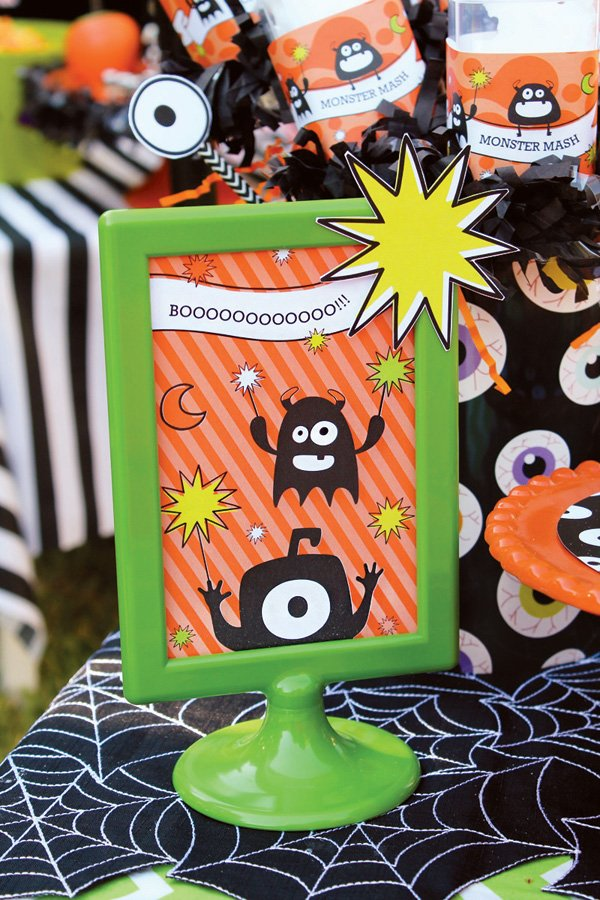 halloween ghost party signs