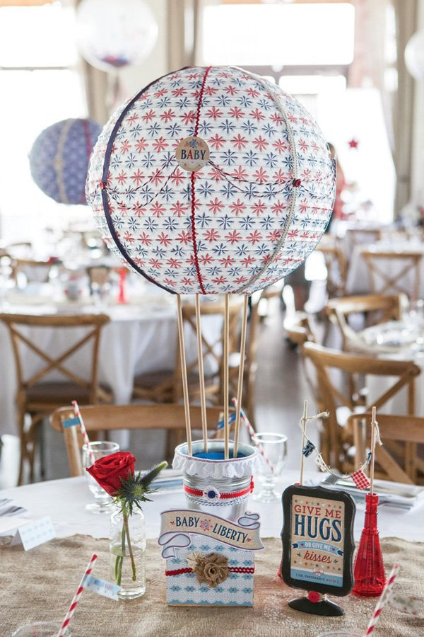 DIY hot air balloon centerpieces