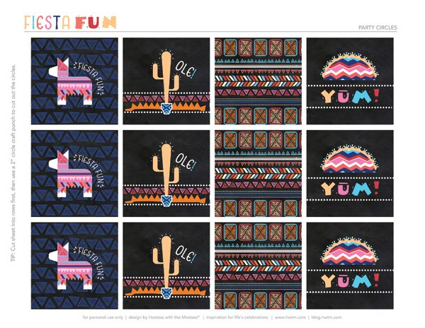 fiesta party free printables from HWTM