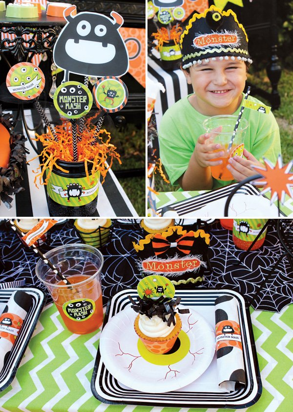 kids halloween place settings