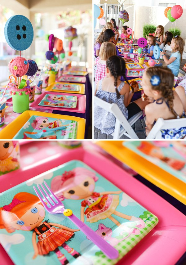 lalaloopsy button tablescape decor