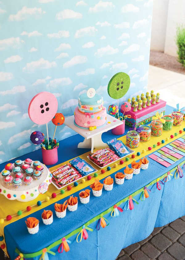 lalaloopsy birthday party dessert table decor and food ideas