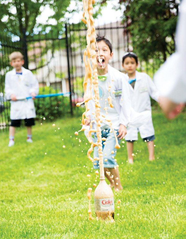 mentos and coke party experiment
