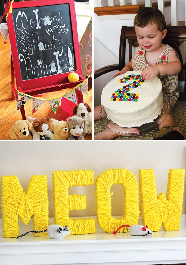 meow cat themed birthday party