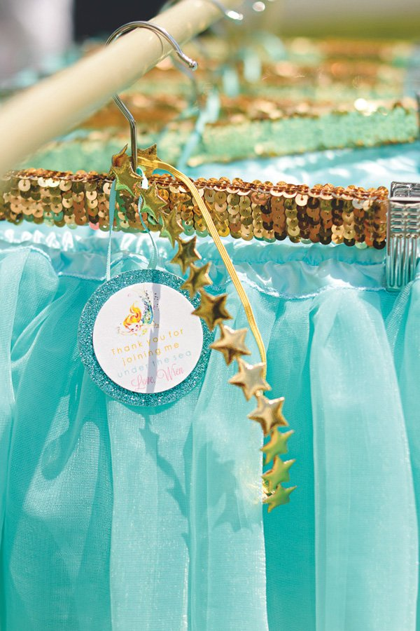 mermaid tutu party favors