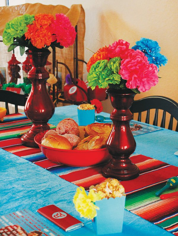 mexican party tablescape decor