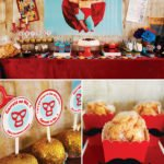 nacho libre party dessert table