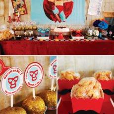 nacho libre party dessert table