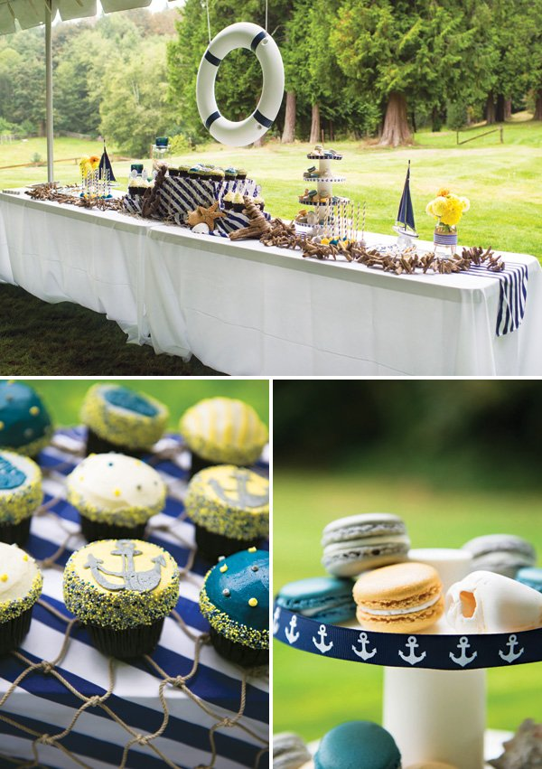 """Ahoy it's a Boy"" Preppy Nautical Baby Shower"