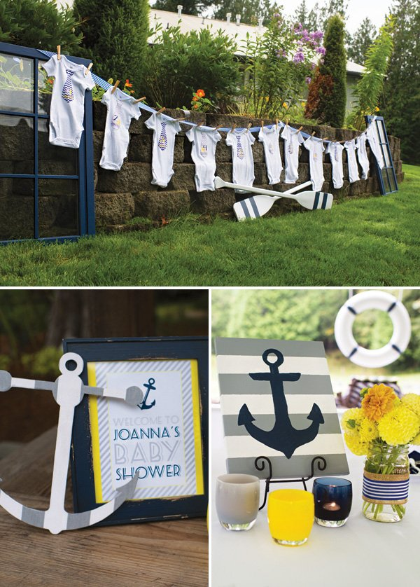 nautical baby shower decor ideas