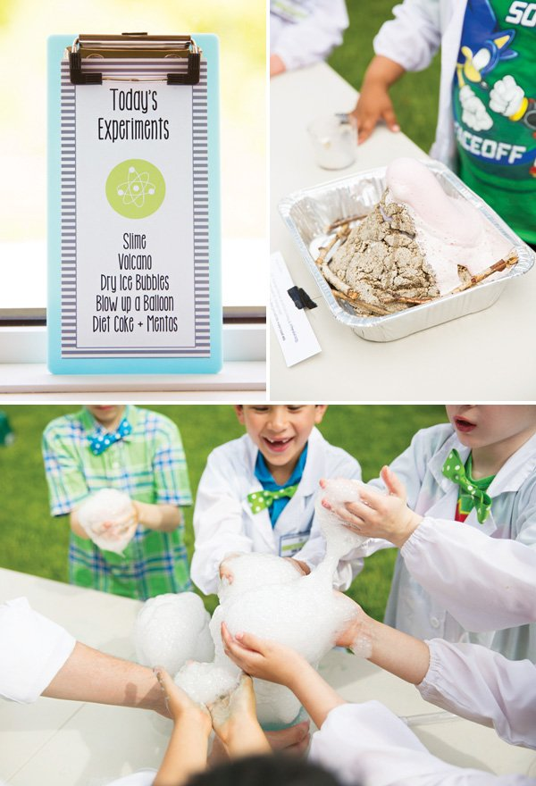 birthday party science experiment ideas