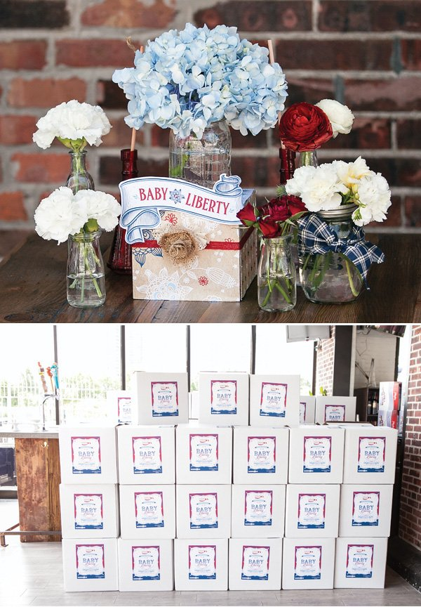 patriotic baby shower centerpieces