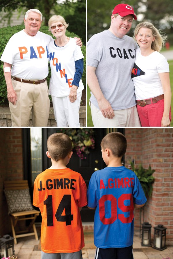 personalized family football jersey shirts