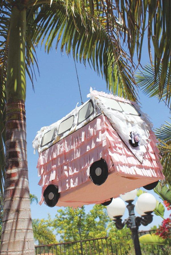 pink vw bus piñata