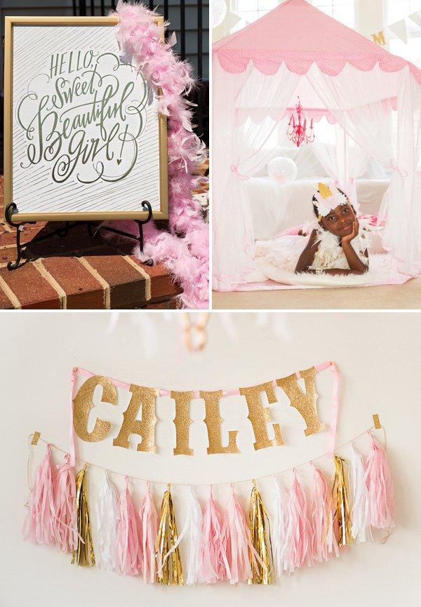 pink birthday pajama party