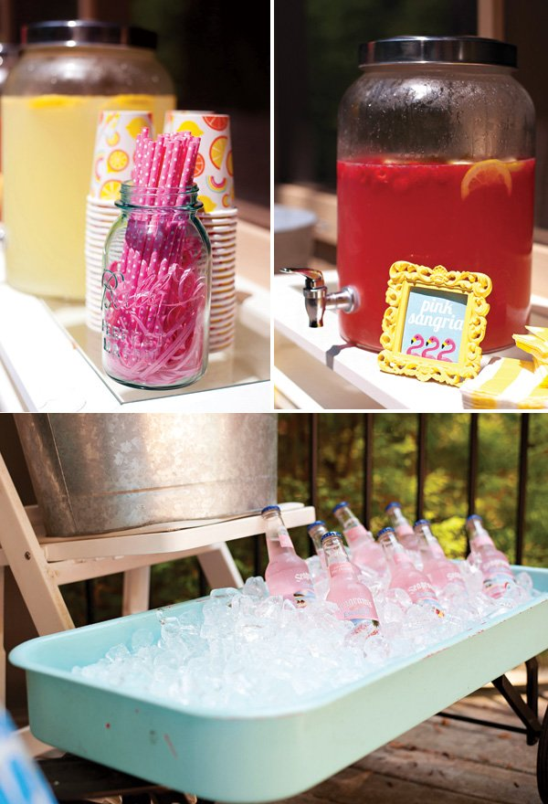 tropical pink party drink ideas