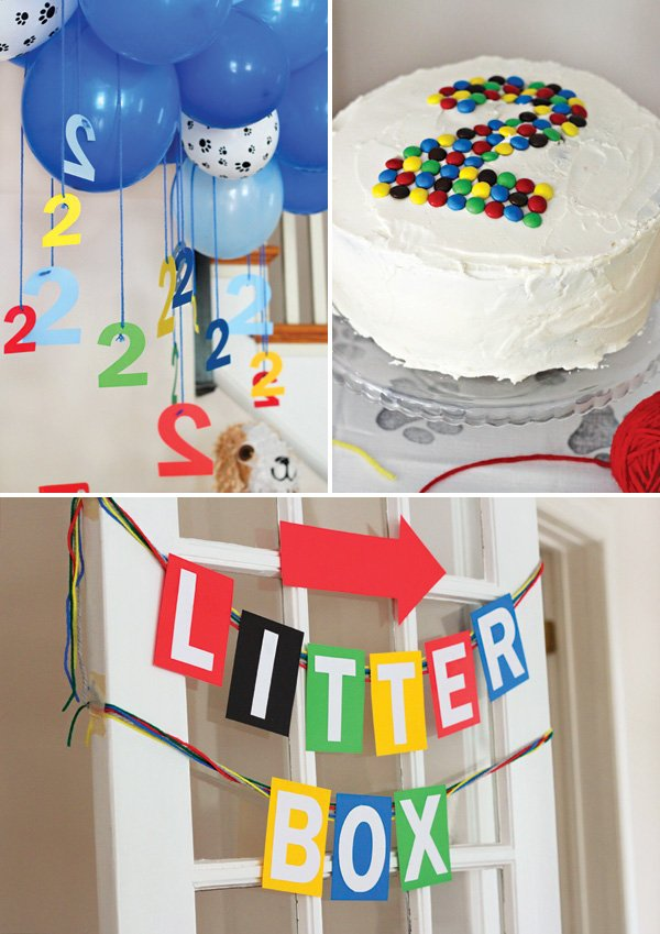 primary color palette for a 2nd birthday party